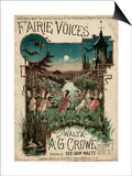Fairie Voices C1860 Póster