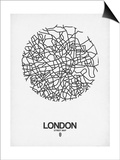 London Street Map White Posters by  NaxArt