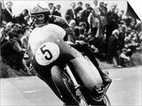 Mike Hailwood, on an Mv Agusta, Winner of the Isle of Man Senior TT, 1964 Prints