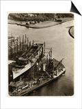 Queen Mary Ocean Liner, in Construction Prints