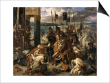 The Entry of the Crusaders in Constantinople Posters par Eugène Delacroix