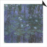 Blue Water Lilies, 1916-1919 Prints by Claude Monet