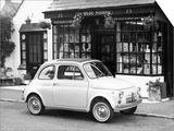 Fiat 500 Parked Outside a Quaint Shop, 1969 Posters