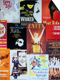 NYC Street Art - Patchwork of Old Posters of Broadway Musicals - Times Square - Manhattan Poster by Philippe Hugonnard