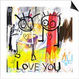 Love You Plakater af Poul Pava
