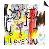 Love You Posters by Poul Pava