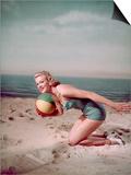 Beach Ball Girl, Woof Prints by Charles Woof