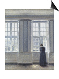 The Tall Windows Prints by Vilhelm Hammershoi