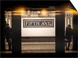 Instants of NY Series - Moment of Life in NYC Subway Station to the Fifth Avenue - Manhattan Print by Philippe Hugonnard