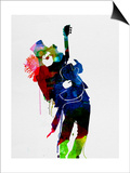 Slash Watercolor Print by Lora Feldman