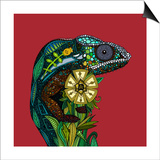 Chameleon Red Posters par Sharon Turner