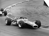 Graham Hill in a Lotus 49, French Grand Prix, Le Mans, 1967 Prints by Maxwell Boyd