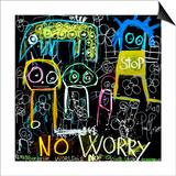Stop No Worry Kunst af Poul Pava