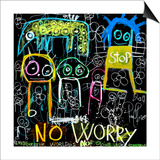 Stop No Worry Art by Poul Pava