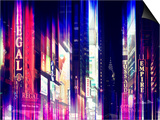Urban Stretch Series - Times Square by Night - Manhattan - New York Prints by Philippe Hugonnard