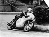 Bob Mcintyre on a Honda, Racing in the Isle of Man Junior Tt, 1961 Prints