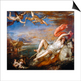 The Rape of Europa, 1560-1561 Art by  Titian (Tiziano Vecelli)