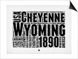 Wyoming Word Cloud 2 Print by  NaxArt