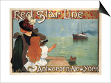 Red Star Line, 1899 Poster by Henri Cassiers