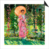 Hollyhocks, C. 1912 Posters by Frederick Carl Frieseke