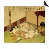 Two Lovers (Shunga - Erotic Woodblock Prin), C. 1750 Prints by Suzuki Harunobu