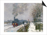 Train in the Snow Posters by Claude Monet