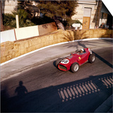 Phill Hill Racing a Ferrari D246, Monaco Grand Prix, Monte Carlo, 1959 Posters