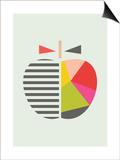 Little Design Haus - Geometric Apple - Poster