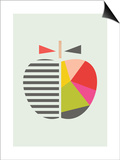 Geometric Apple Posters by  Little Design Haus