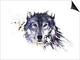 Snow Wolf Print by Sarah Stokes