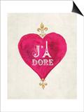 Romance Collection J'Adore Print by Miyo Amori