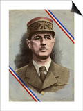 Charles de Gaulle Print by L. Serre