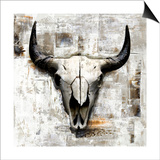 White Cowskull Prints