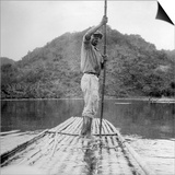 Man on a Raft, Kingston, Jamaica, 1931 Print