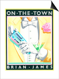 On the Town Plakater af Brian James