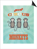 Circus in Blue Posters by Rebecca Peragine