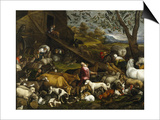 The Animals Board Noah's Ark Posters by Jacopo Bassano