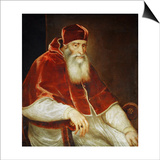 Portrait of Pope Paul III Farnese, 1543 Posters by  Titian (Tiziano Vecelli)