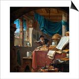 A Scholar in His Study Prints by Thomas Wyck