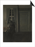 The Collector of Coins Poster by Vilhelm Hammershoi