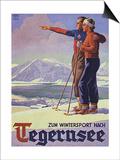 German Ski Poster Prints by Harry Mayer