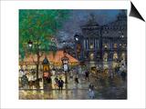 Place De L'Opera, Paris Art by Konstantin Alexeyevich Korovin