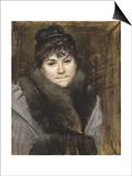 Portrait of Mme X, C. 1883-1884 Art by Maria Konstantinovna Bashkirtseva