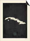 Black Map Cuba Prints by Rebecca Peragine