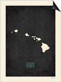 Black Map Hawaii Prints by Rebecca Peragine