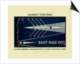Transport for London - Boat Race 1923 - Poster