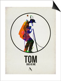 Tom Watercolor Print by David Brodsky