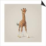 Giraffe Poster by John Butler Art
