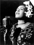 Jazz and Blues Singer Billie Holiday (1915-1959) in the 40's - Reprodüksiyon