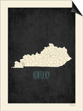 Black Map Kentucky Posters by Rebecca Peragine